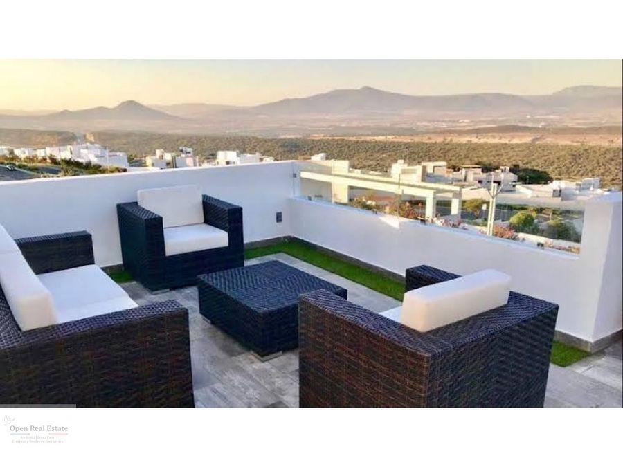 espectacular casa moderna con roof garden y alberca privada