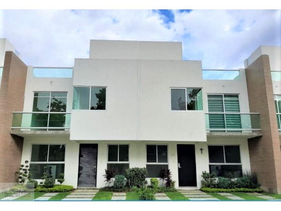 hermosa casa estilo moderno con vigilancia 247