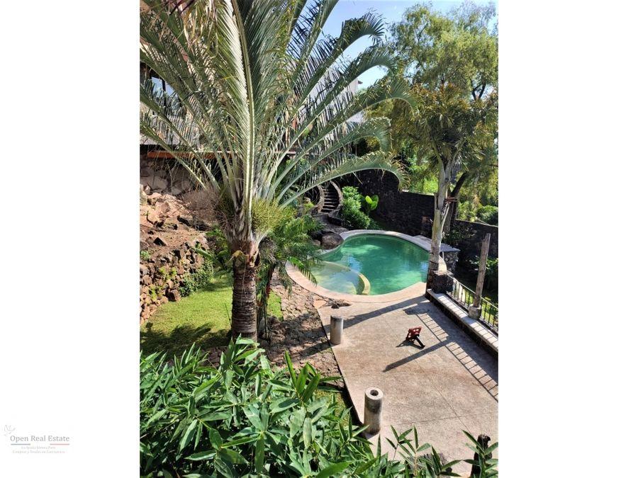 excelente casa estilo contemporaneo al sur de cuernavaca