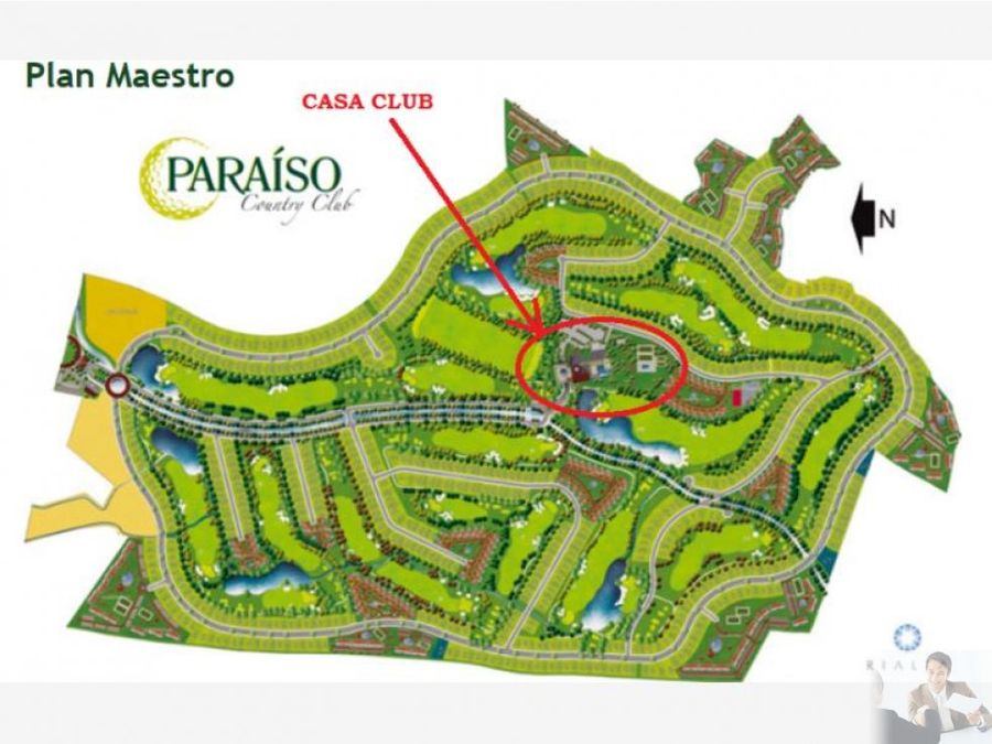 paraiso country club hermoso terreno en venta