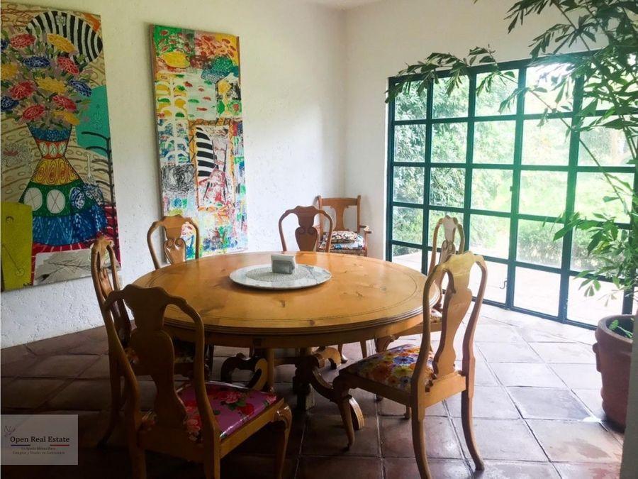 amplia casa de un solo nivel con hermoso jardin en cuernavaca