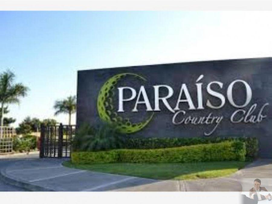 terreno aaa en paraiso country club