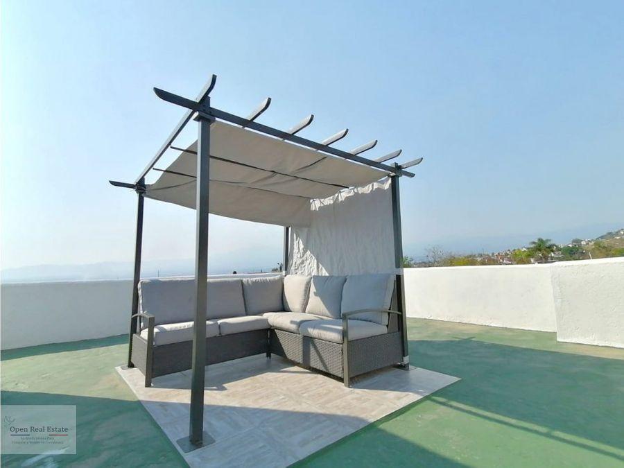 loft con roof garden vista panoramica