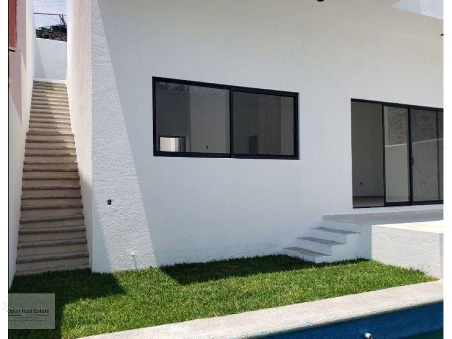estrena moderna casa en zona sur de cuernavaca