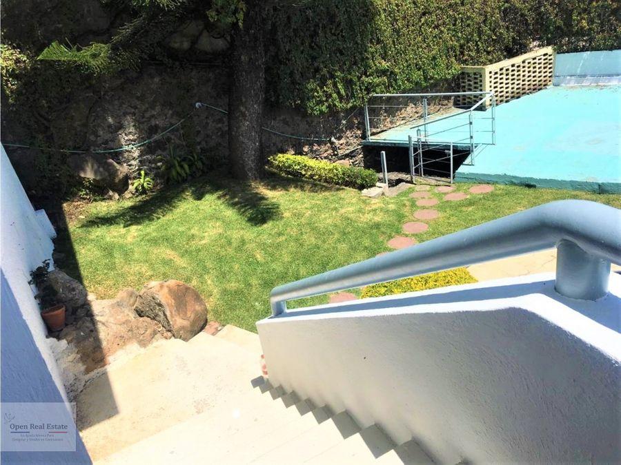 casa con jardin y alberca en cuernavaca
