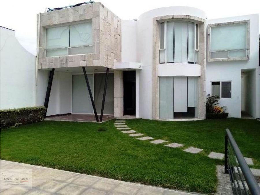 preciosa casa estilo moderno en cuernavaca