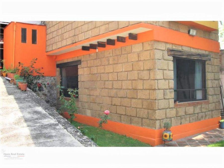 preciosa residencia con terraza al sur de cuernavaca