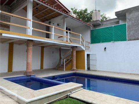 casa sola con alberca en excelente ubicacion yautepec