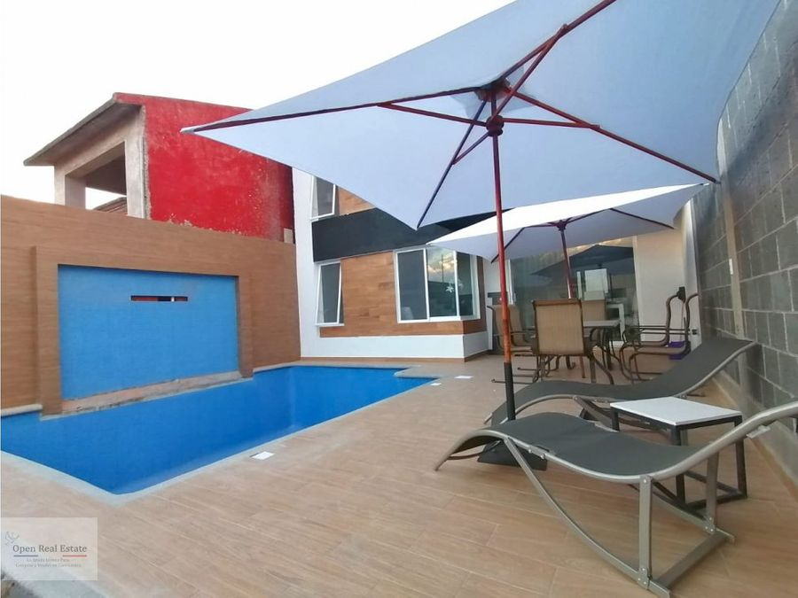 exclusiva casa minimalista con alberca al sur de cuernavaca