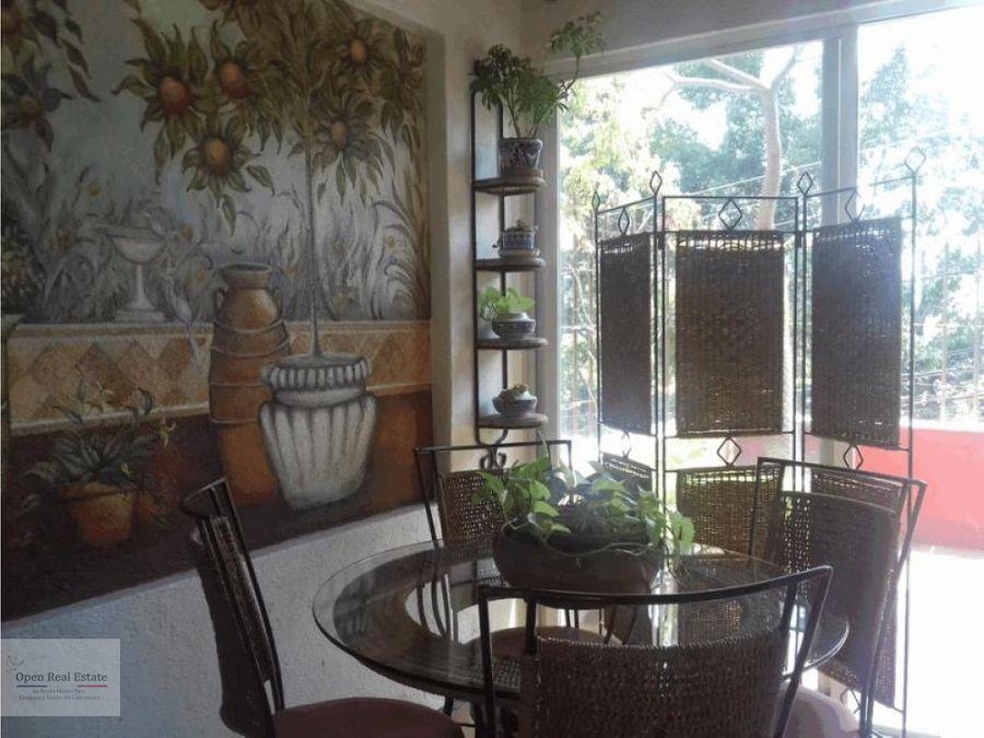 hermosa casa en conjunto de amplias areas verdes con vista panoramica