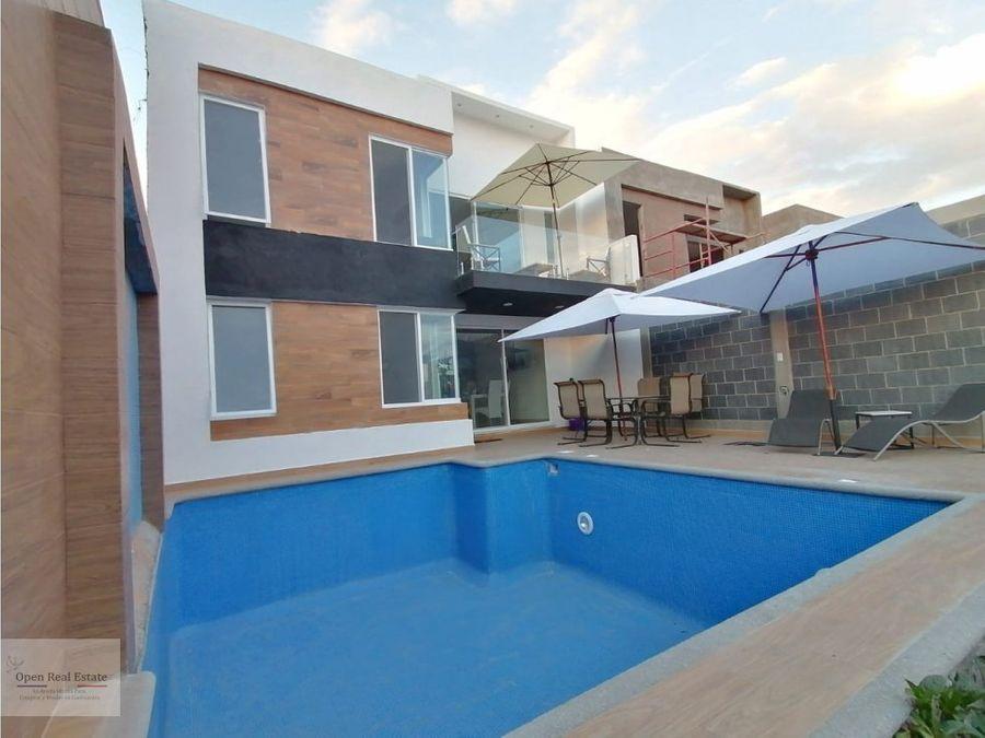 estrena exclusiva casa minimalista con alberca zona burgos