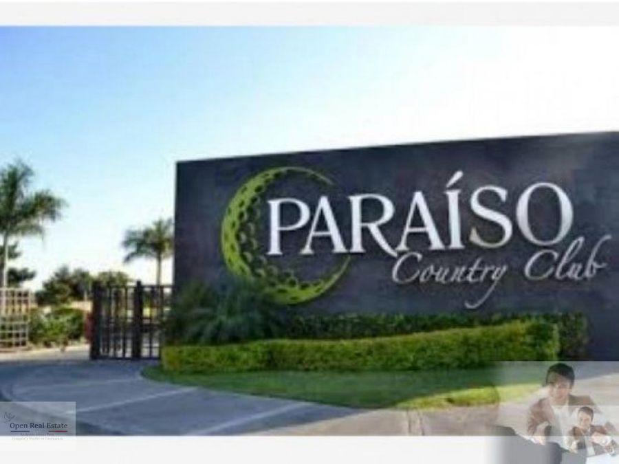 oportunidad lote 474 mts plano en paraiso country club
