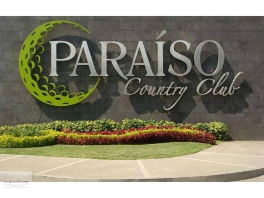 magnifico terreno plano en paraiso country club