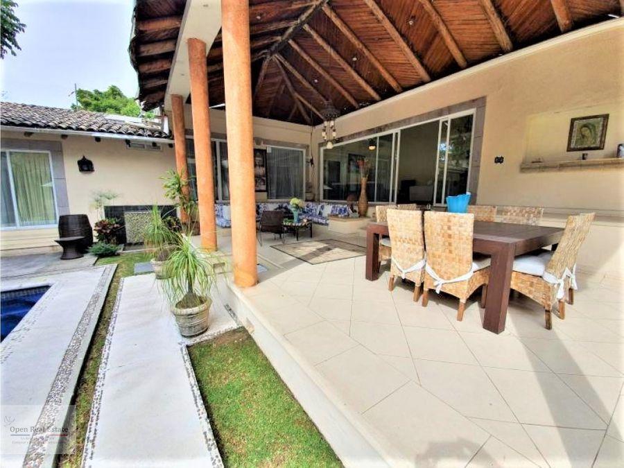 exclusiva residencia 1 nivel ubicada en zona dorada de cuernavaca