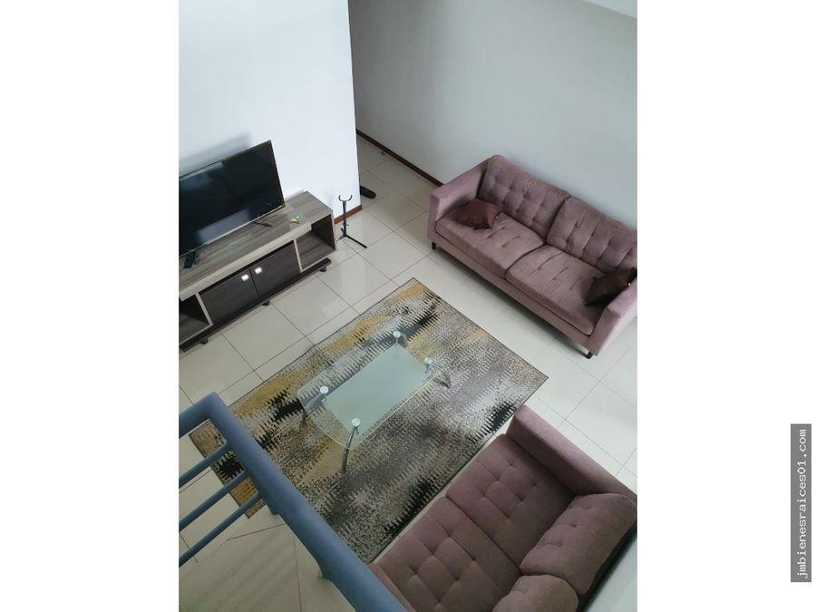 a146 apartamento amueblado en via indus en real cariari