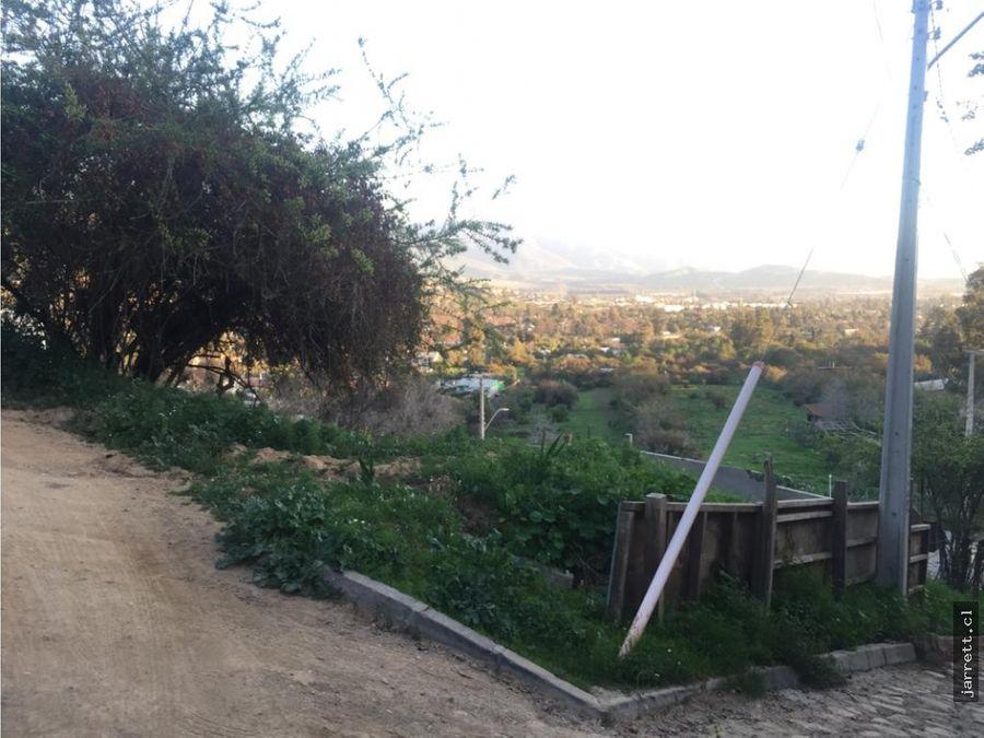 terreno con vista sector granizo olmue