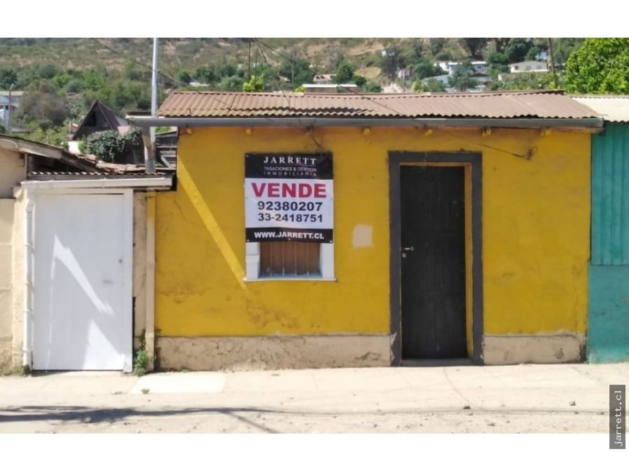 jarrett se vende propiedad en san francisco de limache