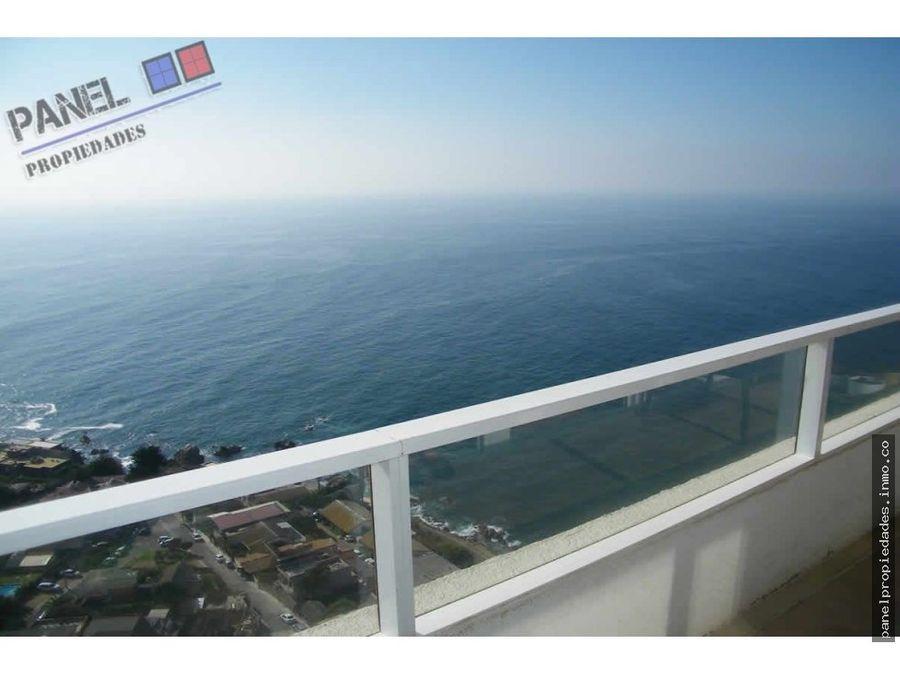 venta depto vista al mar costa de montemar vd476