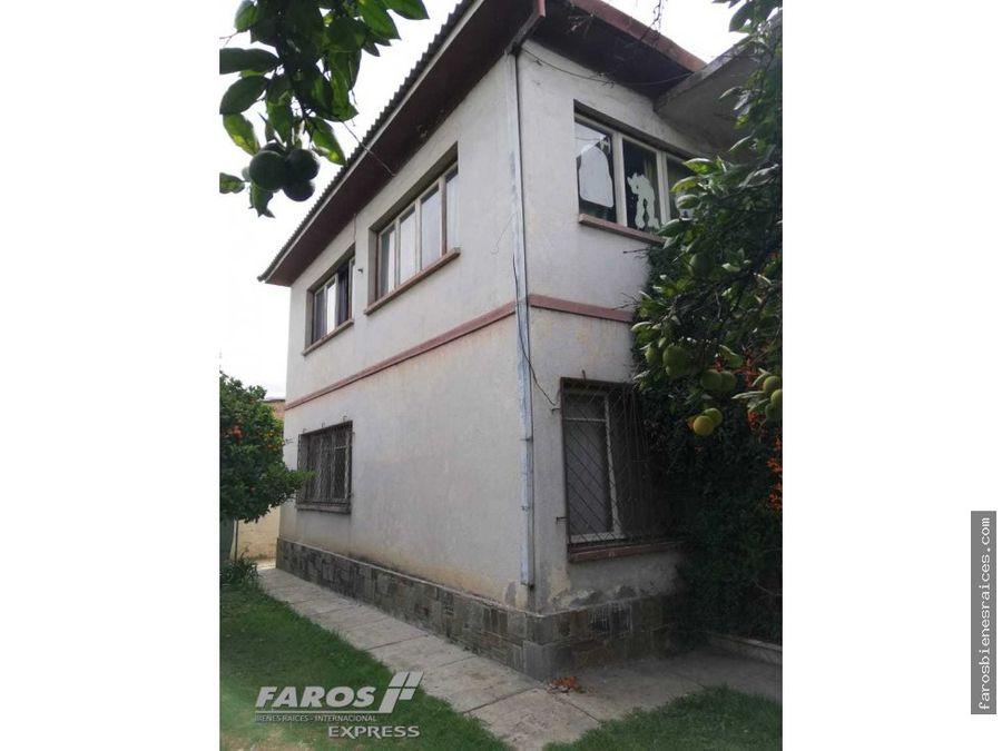 casa lote en esquina potencial de cochabamba