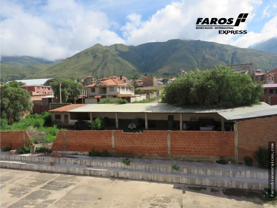 11500m2 area urbana chillimarca tiquipaya