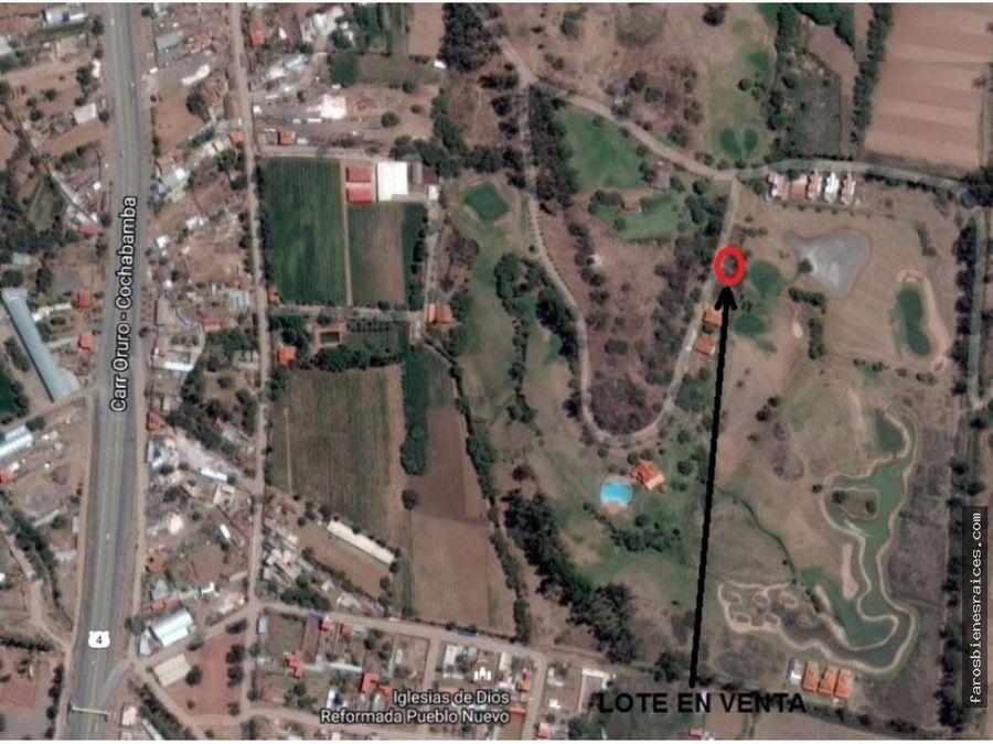 lote para casa de campo en cochabamba