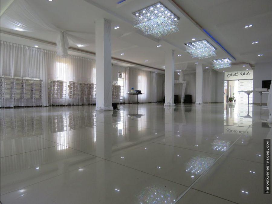 salon de eventos rentable edificio 4 duplex