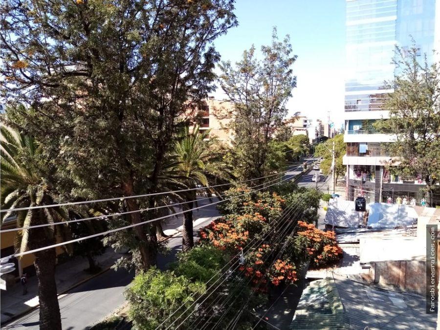 comodo departamento en alquiler av ayacucho us 360 cochabamba