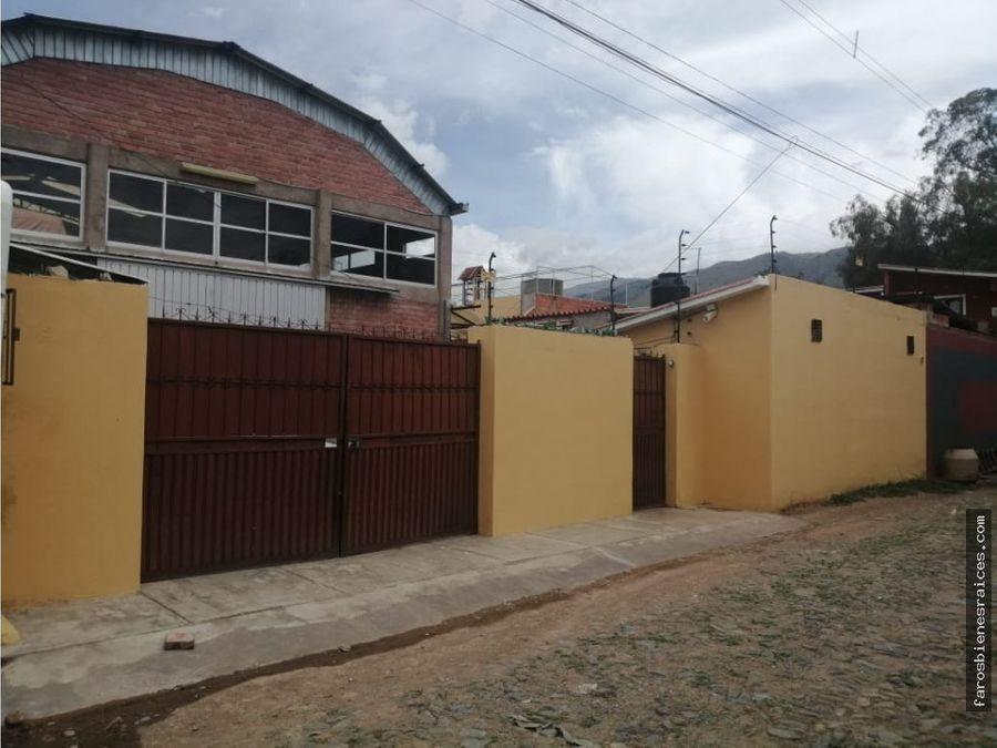 propiedad con galpon para empresas industriales en zona quintanilla