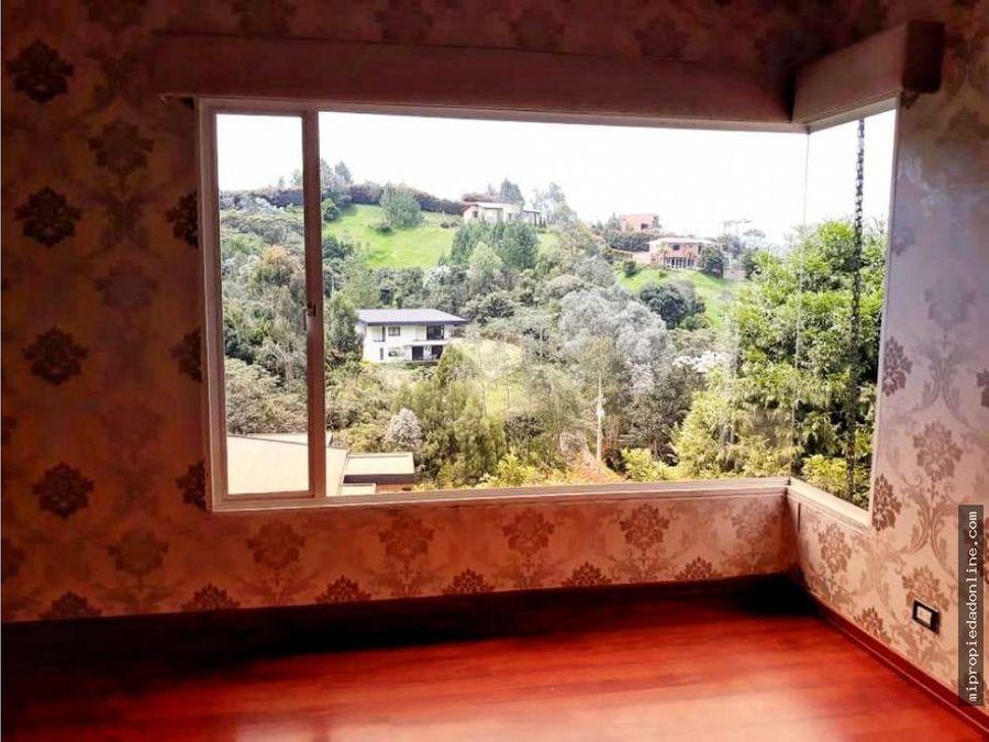 venta casa campestre en el alto del escobero envigado