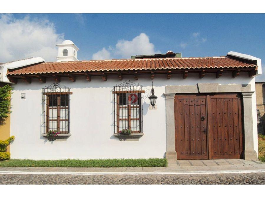 casa dentro de condominio seguro en antigua guatemala