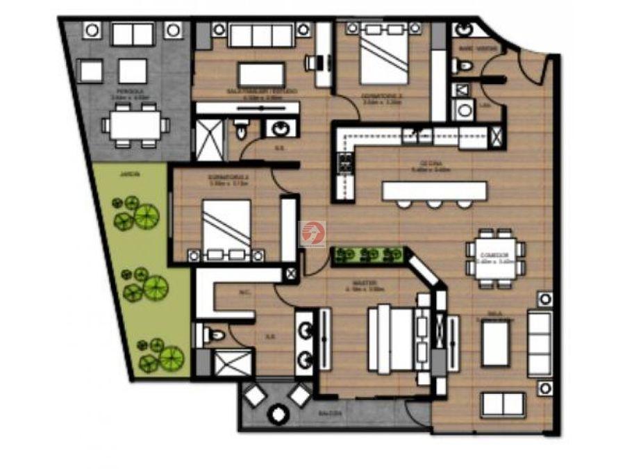 apartamento a estrenar con jardin en venta zona 15