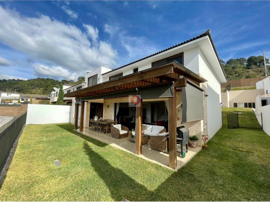casa en venta en condominio lomas de san isidro zona 16