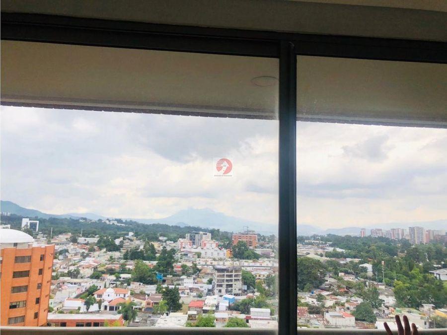 alquilo de apartamento amueblado espacioso con vista zona 10