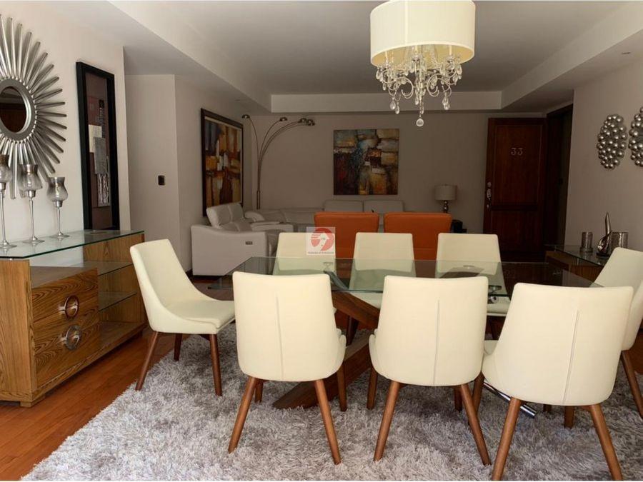 renta de apartamento amueblado zona 14