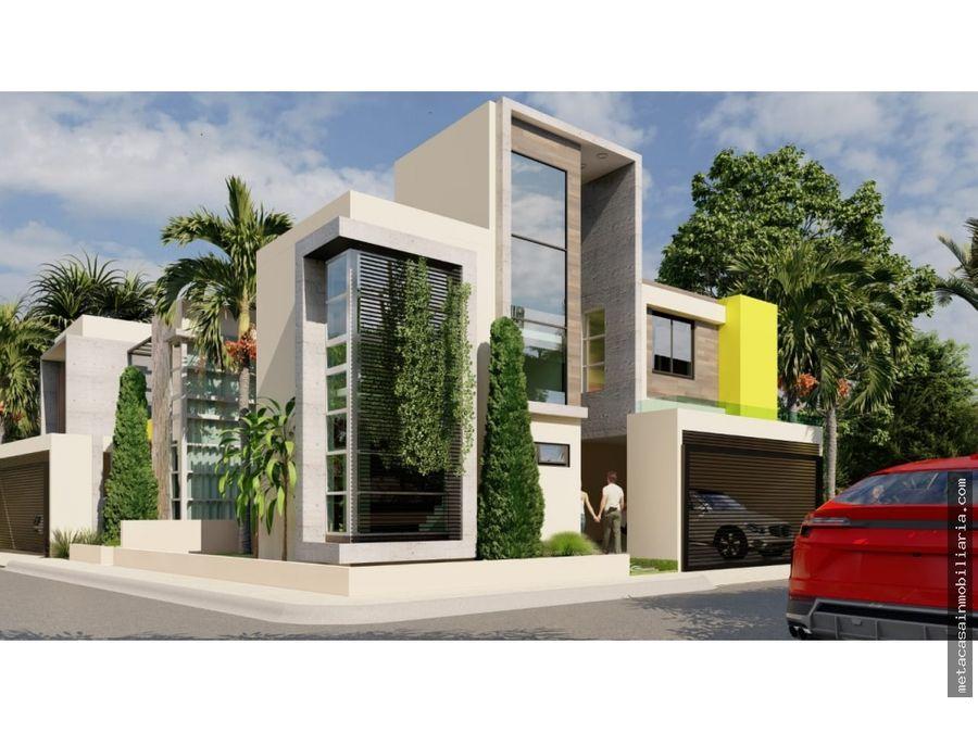 amplias casas con fachada moderna prox av ecologica