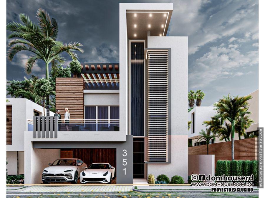 casa de 3 niveles 267mts2 con exclusiva fachada avecologica