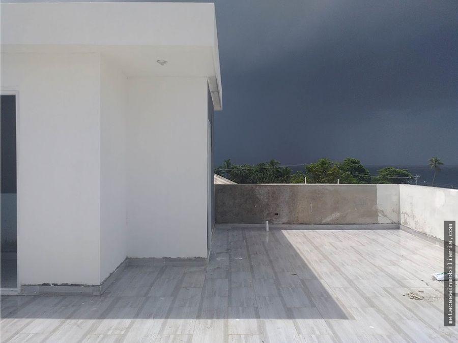 comodo penthouse listo en tropical del este vista al mar