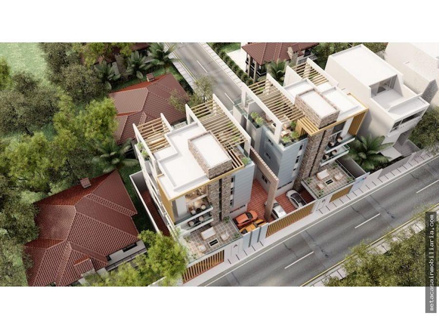 moderno proyecto con penthouse de doble altura