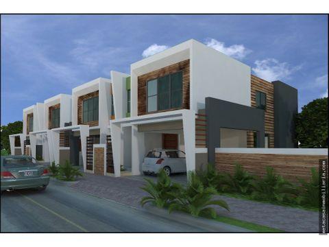proyecto cerrado de casas de 2 niveles en brisa oriental