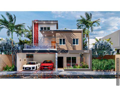 casa de 2 niveles 248mt2 construccion y 25 metros terraza