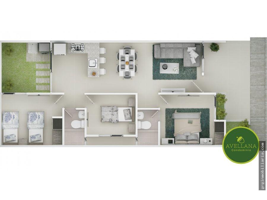 avellana condominio casas en venta en turbaco