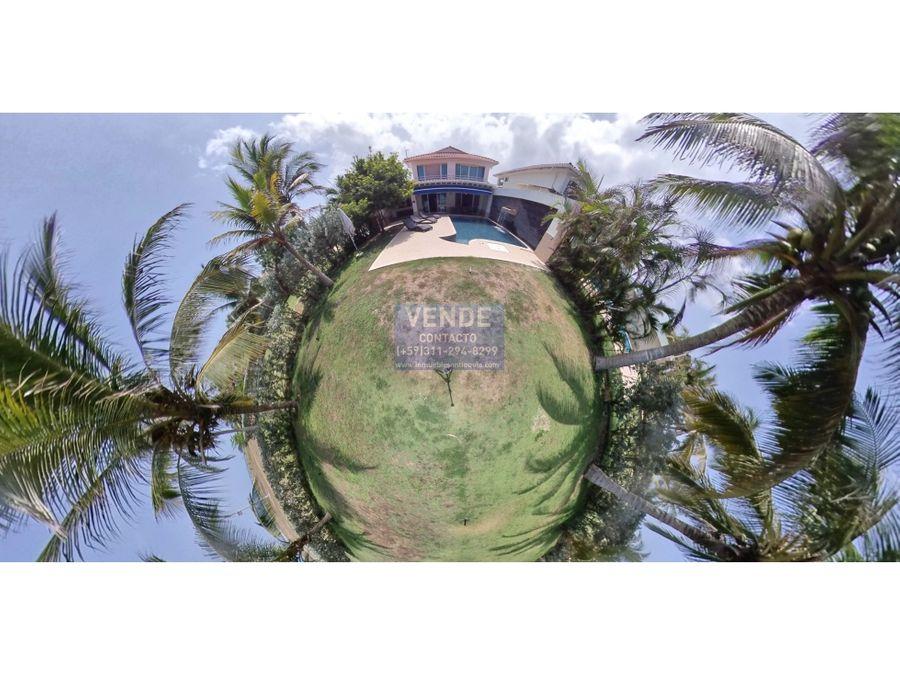 casa de campo frente al mar caribe cartagena de indias