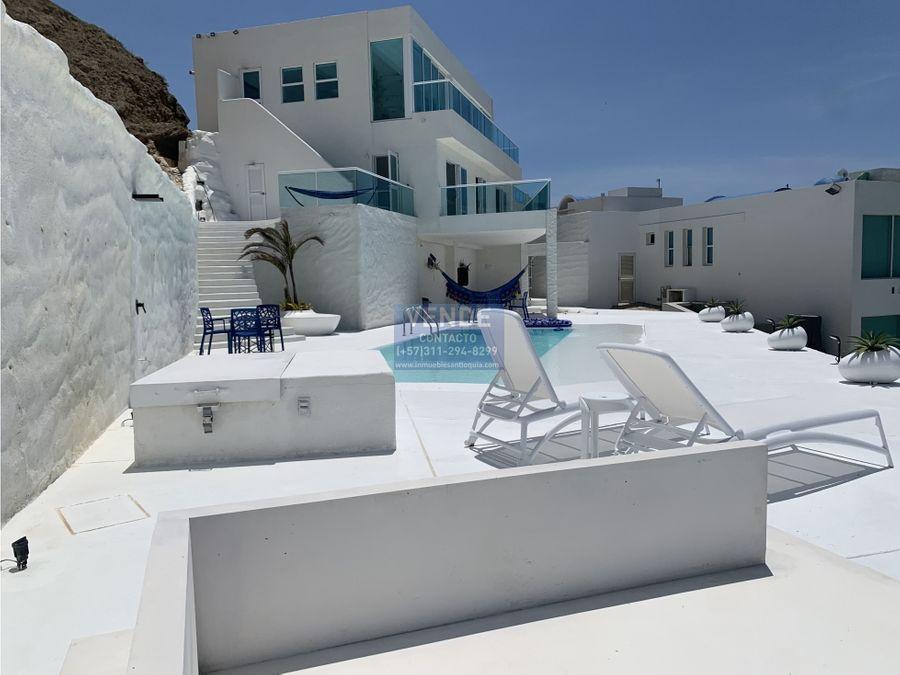 casa de lujo frente al mar con estilo mediterraneo en cartagena