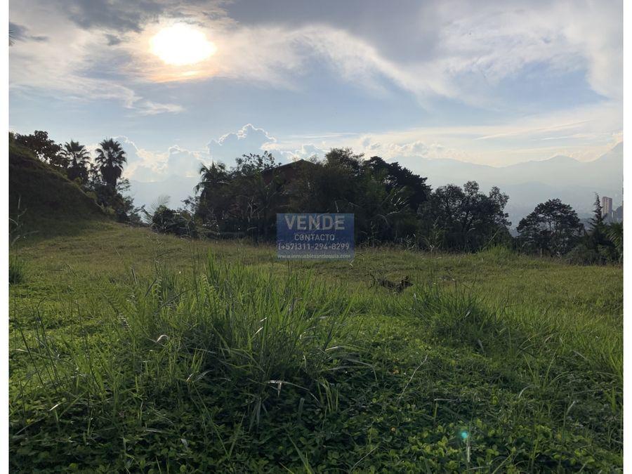 lote en altos del poblado con vista panoramica