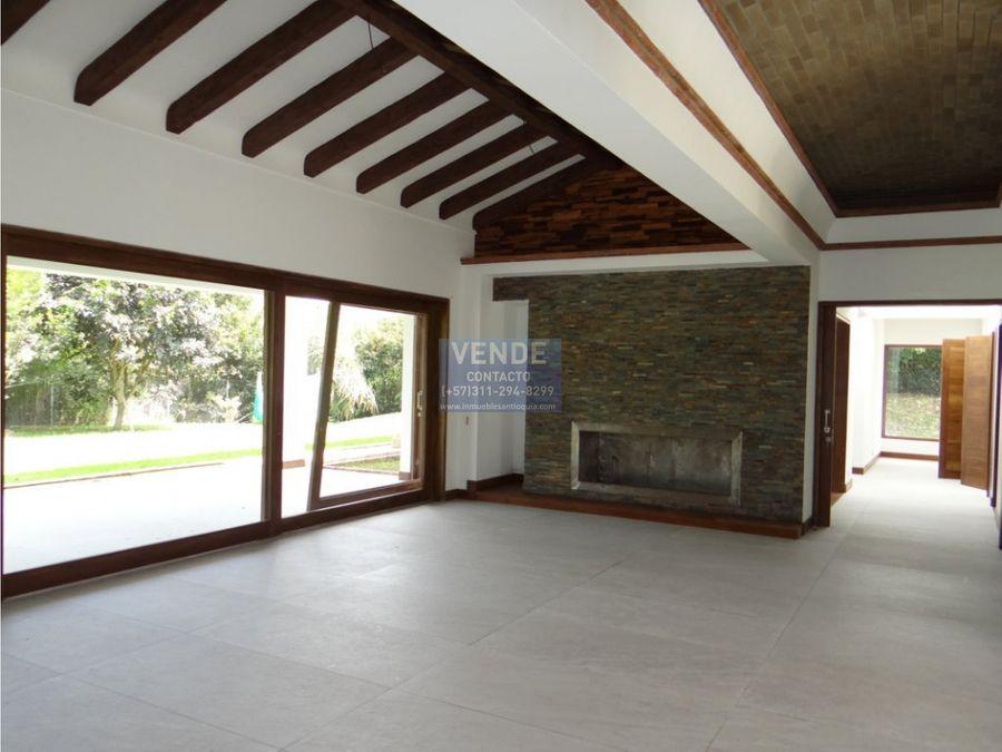casa llanogrande nueva en parcelacion de lujo cabeceras