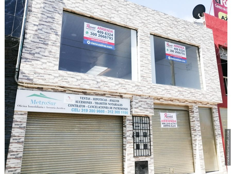 local comercial primer piso sector carvajal