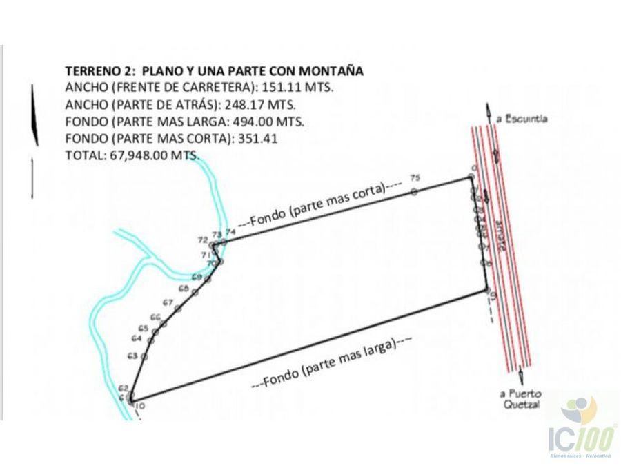rento terreno carretera puerto quetzal guatemala