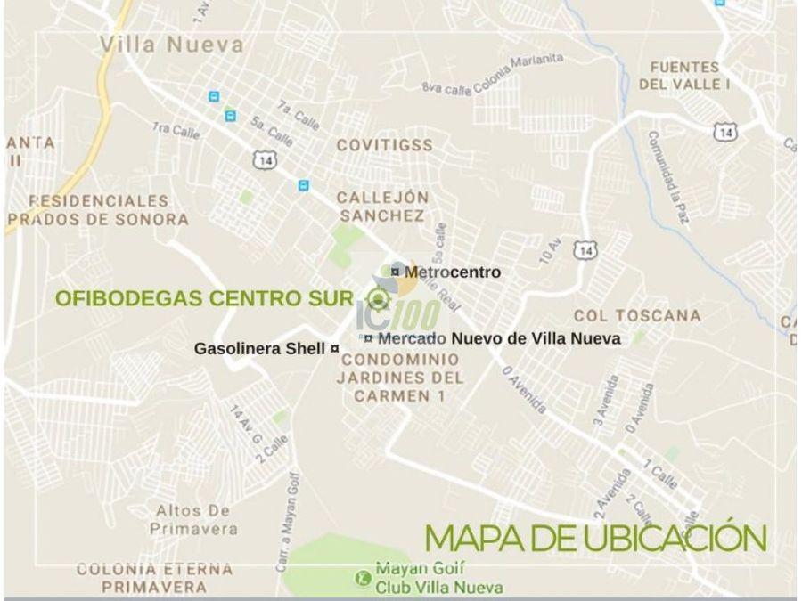 renta ofibodega centro sur villa nueva guatemala