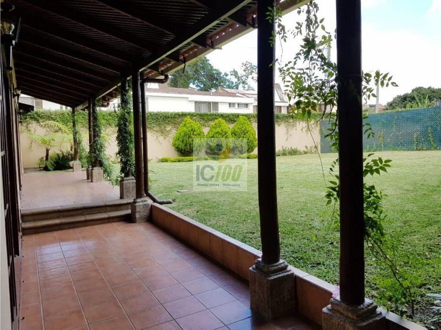 renta casa zona 14 guatemala