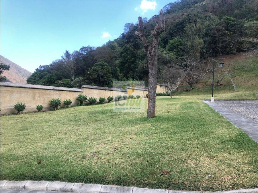 venta terreno casco del cerro antigua guatemala